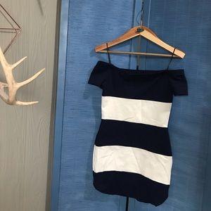 Nasty Gal striped dress, dinner dress